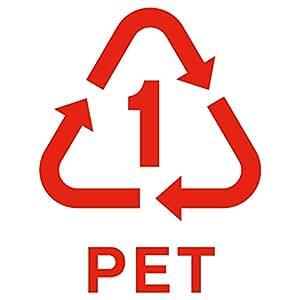 nc-smile ゴミ箱用 分別 シール ステッカー ペットボトル PET リサイクル Lサイズ (レッド)