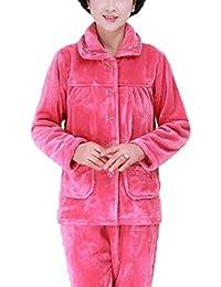 Respeedimeかわいい漫画のパジャマの女性の秋と冬のフランネルのホームサービス