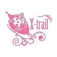 てんとう虫 X-trail エクストレイル カッティング ステッカー ピンク 桃