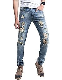 (ゆうや)YoYeah メンズ ダメージジーンズ デニム パンツ ストレッチジーンズ