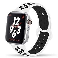 YC Yanch greatou for Apple Watchバンド38mm 42mm、ソフトシリコンスポーツバンド交換用手首ストラップiWatch Apple Watchシリーズ3シリーズ、2、シリーズ1、Nike + Sport, Edition, S/M M/Lサイズ 38mm S/M