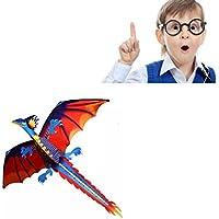 yeefantカラフル3d Dragon Kite Oneベストセラーの玩具、スポーツの1行ソフトウェア動物Kites Flying forアウトドアGames andアクティビティfor Kids, Good Plan for Memorable Summer Fun