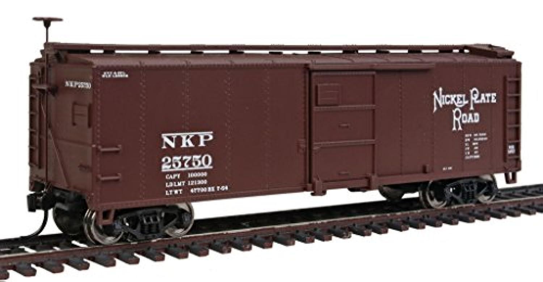 Walthers HOスケール40 ' x-29スチールBoxcar Train CarニッケルプレートRoad/NKP # 25750