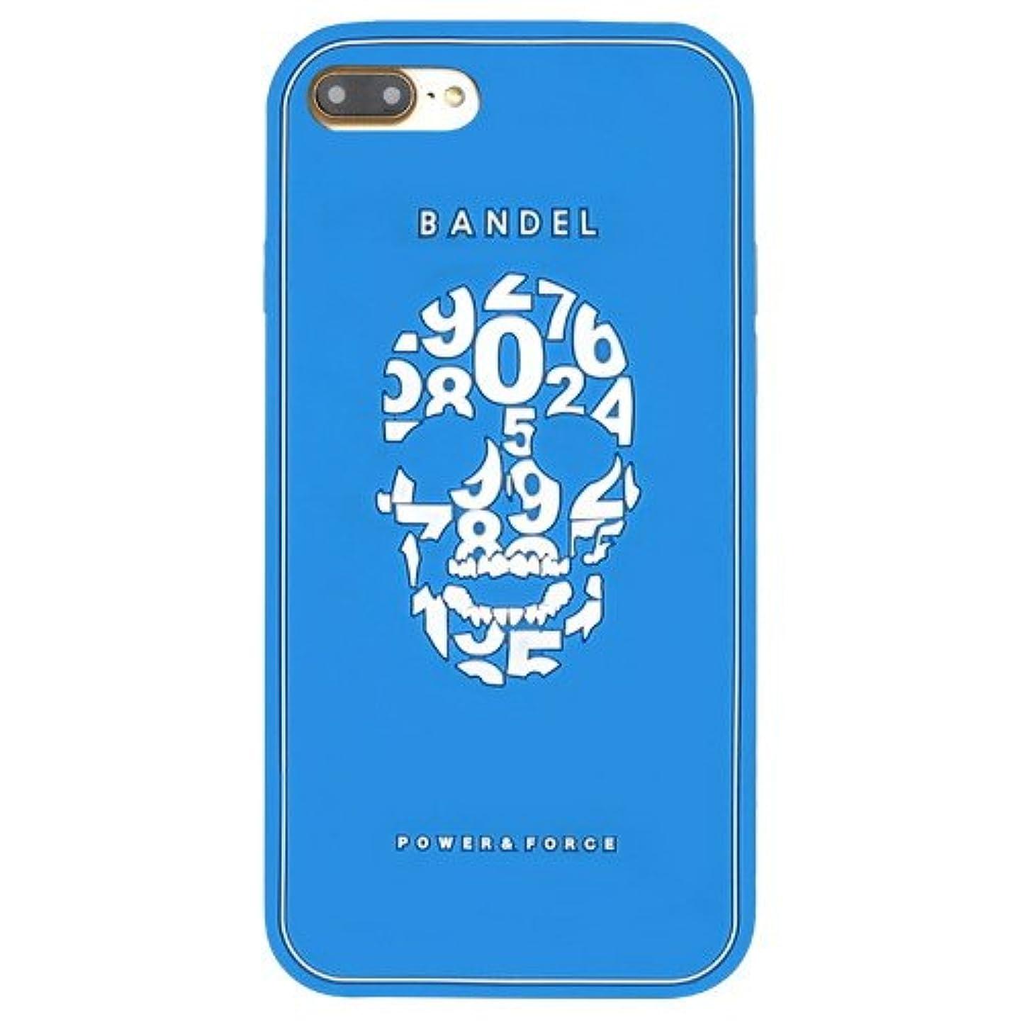 ピアノツイン抵抗力があるバンデル(BANDEL) スカル iPhone 7 Plus専用 シリコンケース [ブルー]