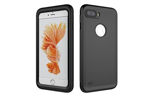Iphone 7 Plus 防水電話ケースは、HBER IP68完全密閉水泳ダイビング水中防塵耐雪性の耐震ヘビーデューティケースカバーは、iphone7 plusのために敏感な画面タッチ指紋認証ロック解除をサポートしています (黒)