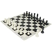 Triple Weight Midnight Black Tournament Chess Set