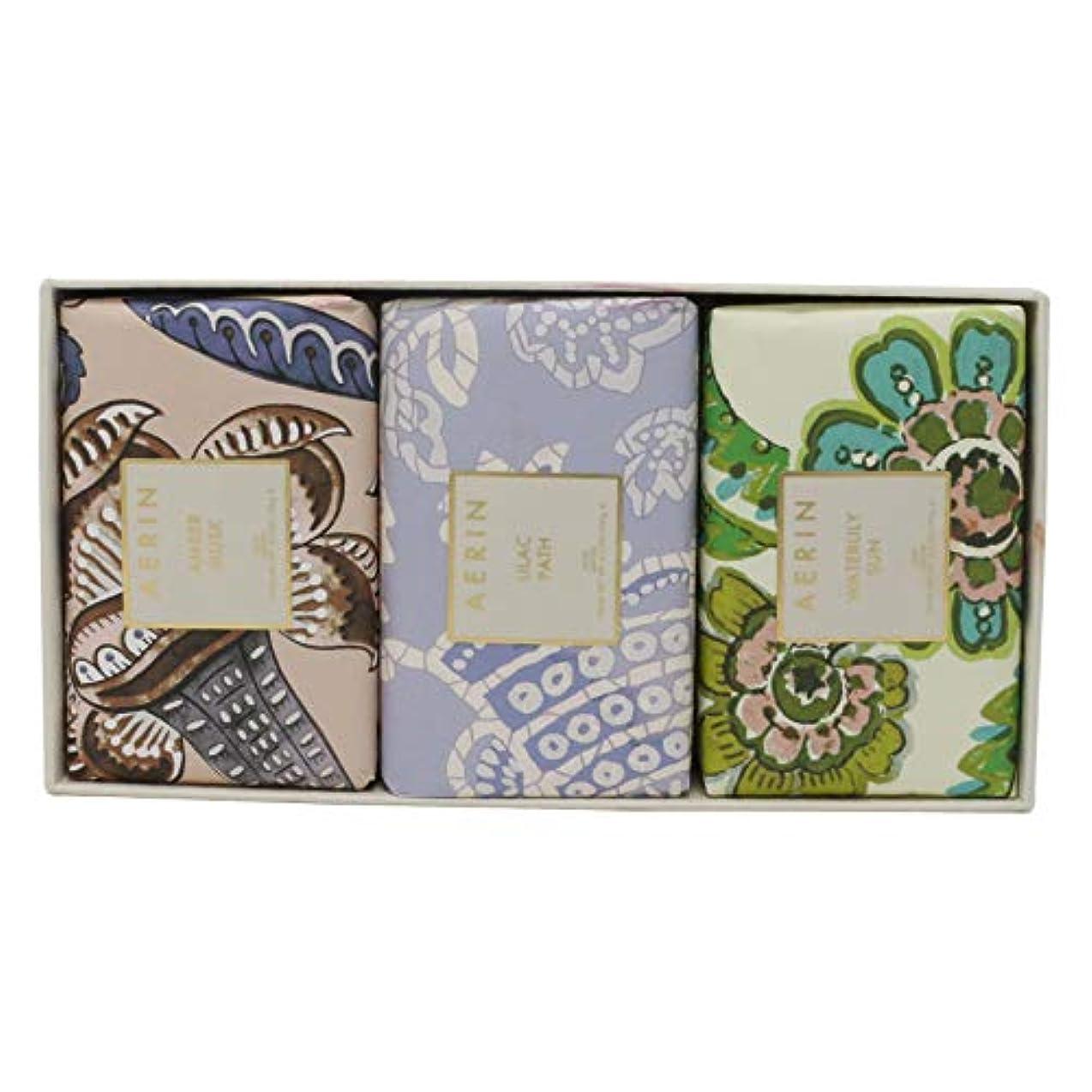真鍮階下学校教育AERIN Beauty Soap Coffret(アエリン ビューティー ソープ コフレット ) 6.2 oz (186ml) Soap 固形石鹸 x 3個セットby Estee Lauder