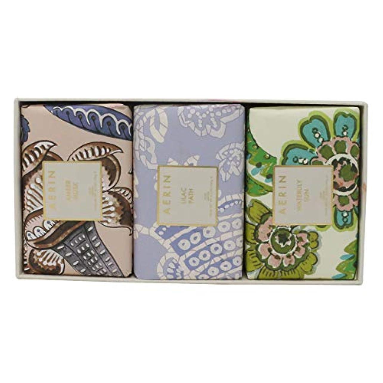 どんよりした反論者住所AERIN Beauty Soap Coffret(アエリン ビューティー ソープ コフレット ) 6.2 oz (186ml) Soap 固形石鹸 x 3個セットby Estee Lauder