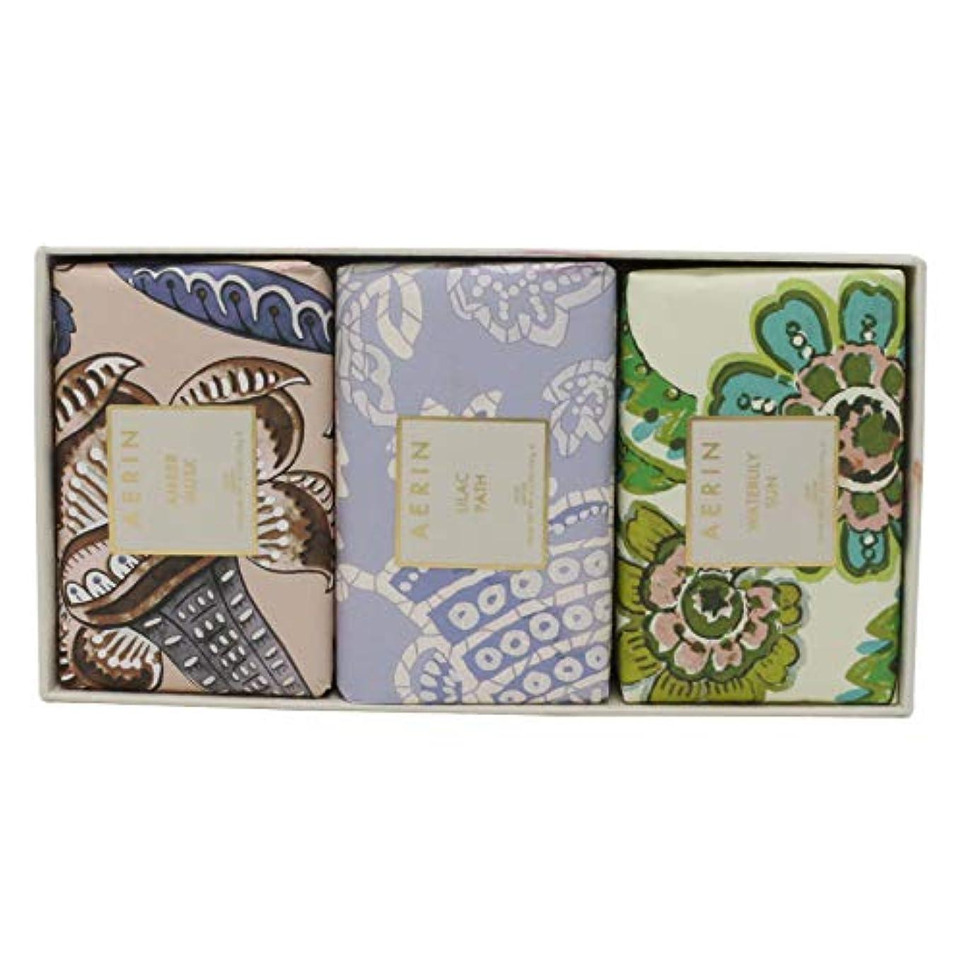 ペインティング可動潜在的なAERIN Beauty Soap Coffret(アエリン ビューティー ソープ コフレット ) 6.2 oz (186ml) Soap 固形石鹸 x 3個セットby Estee Lauder