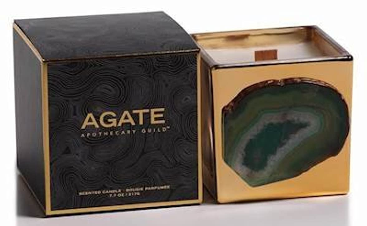 感性比類のない投げ捨てるZodax Agate Scented Candle Jar 50 Hours Burn Time- Siberian Fir (217gm / 7.7oz)