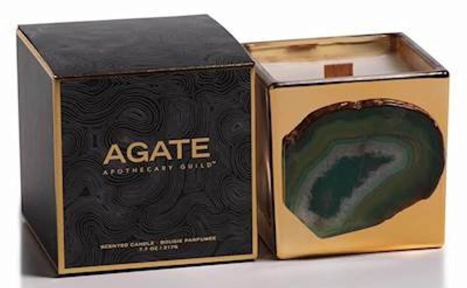Zodax Agate Scented Candle Jar 50 Hours Burn Time- Siberian Fir (217gm / 7.7oz)