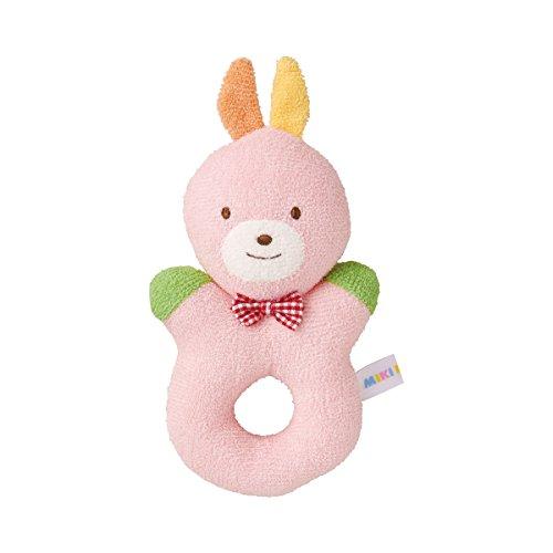ミキハウス(ベビー)(mikihouse) 初めてのおもちゃ ラトル(0ヶ月から)(46-1191-365) ピンク(08)