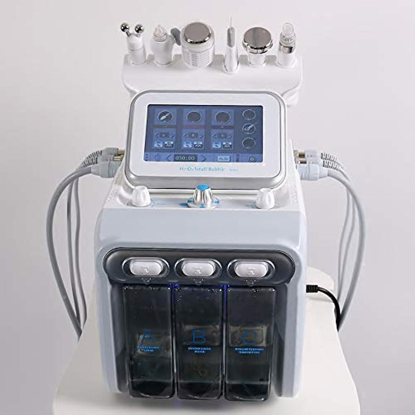 エレメンタル髄住所6 In1 H2-O2ハイドロダーマブレーションRFバイオリフティングスパフェイシャルハイドロマイクロダーマブレーションマシン