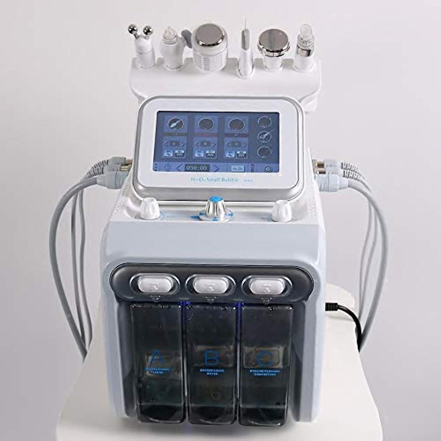 意識昨日必要ない6 In1 H2-O2ハイドロダーマブレーションRFバイオリフティングスパフェイシャルハイドロマイクロダーマブレーションマシン