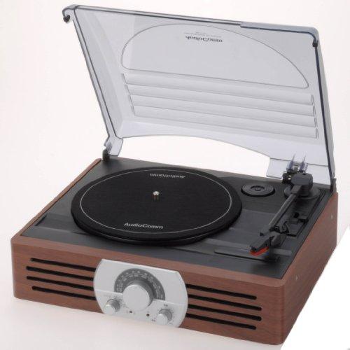 OHM AudioComm ラジオ付レコードプレーヤー RRM-2775K-T
