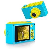 BlueFire 子供用カメラ デジタルカメラ 水中カメラ 10メートル防水機能付き フルHD 1080P高画質 800万画素 録画機能 2インチスクリーン 4倍ズーム トイカメラ 日本語適用 (ブルー)