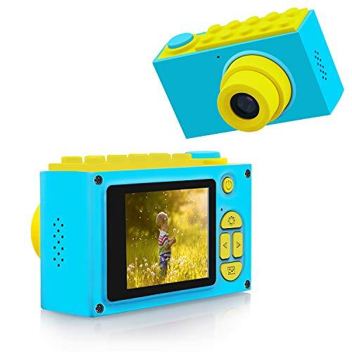 BlueFire 子供用カメラ デジタルカメラ キッズカメラ トイカメラ フルHD 1080P高画質 800万画素 録画機能 2インチスクリーン 4倍ズーム トイカメラ 日本語適用 (ブルー)