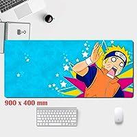 WSDSB ゲーミングマウスマット-ステッチエッジ-滑り止め-特殊な表面のマウスパッドにより、速度と精度が向上します。黒-ワンピースデザイン (Color : A, Size : 900mm×400mm)