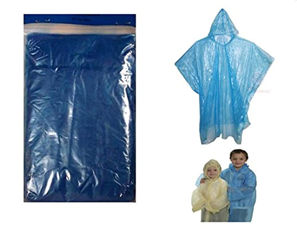 遠洋の誤解を招くパターン5 Readi USAブルー子サイズ緊急Kids Rain Poncho – 使い捨て40