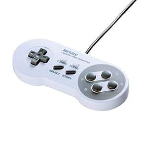 iBUFFALO USBゲームパッド 8ボタン スーパーファミコン風 ホワイト BSGP801WH