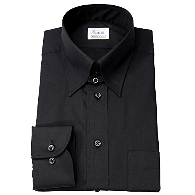 店主コークスシソーラスワイシャツ メンズ長袖(ドレスシャツ)タブカラー ブラック 軽井沢シャツ [A10KZZT21]