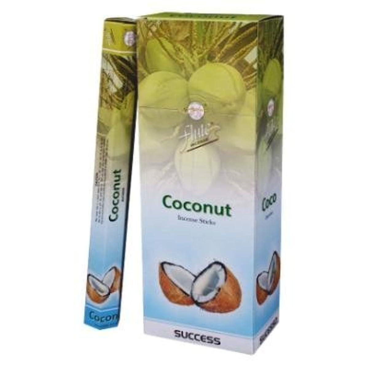 熱心教養があるで出来ているFlute Coconut Hex Incense Sticks - 20 Sticks(Single Pack) by Flute Incense [並行輸入品]