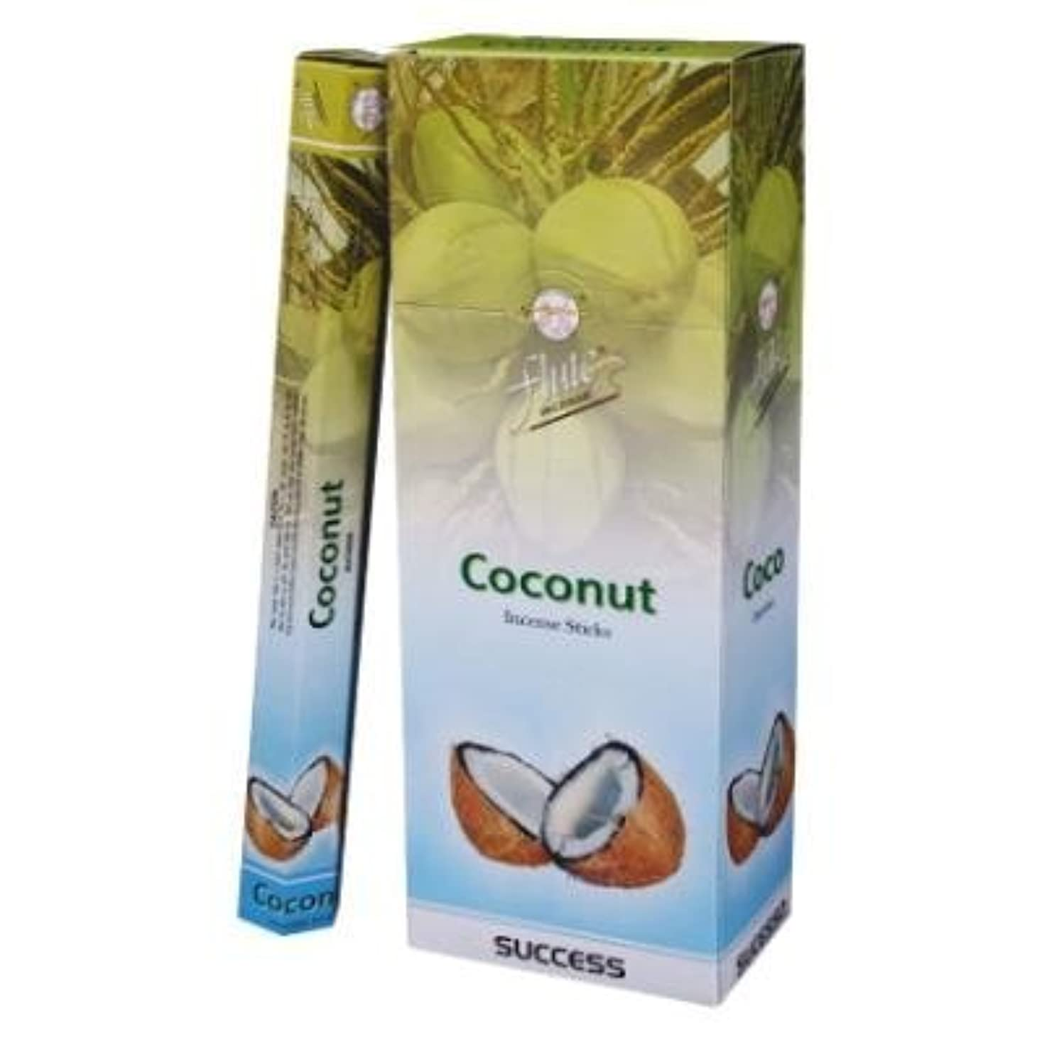 徐々に等価ほとんどないFlute Coconut Hex Incense Sticks - 20 Sticks(Single Pack) by Flute Incense [並行輸入品]