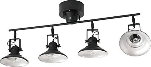 アベニュー ヴィンテージ 4灯 シーリングランプ リモコン付 電球なし 001887 (BK(ブラック))