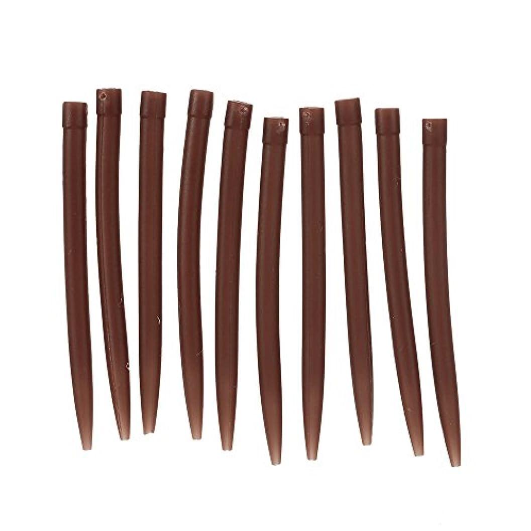 減少キリスト教豊富な30pcs 54mmの反もつれたゴム製袖は粗い釣り針のコイと接続します