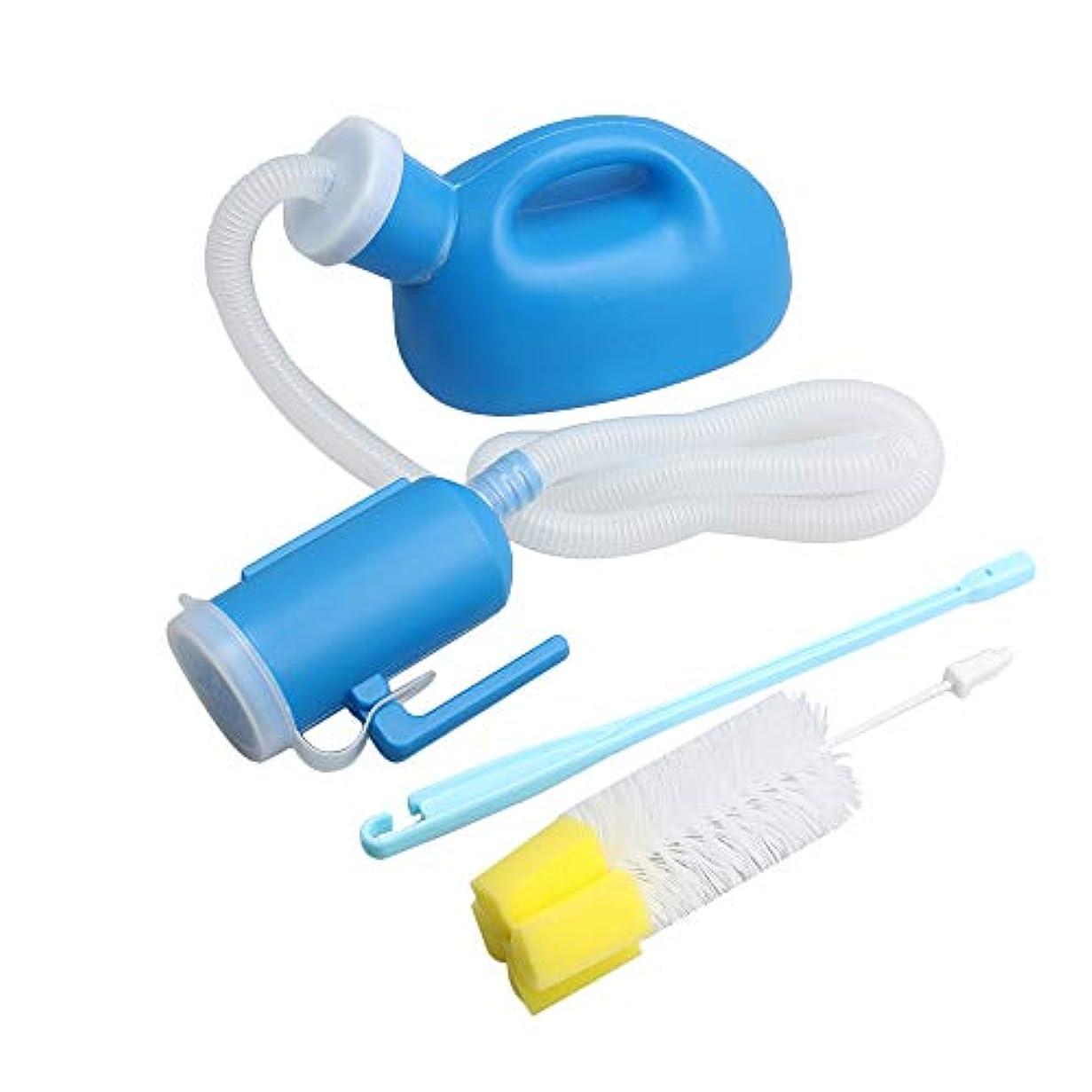 浮く休眠初期のKaityoffice 男性用尿瓶 クリーニングブラシ付き 排尿ボトル 洗い簡単 軽量 使いやすい プラスチック製 1000ml ブルー