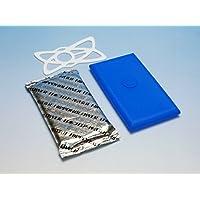スマホ用過熱防止保冷剤 PCM-PAC C32 150g 青カバー、白バンド付(青/白)