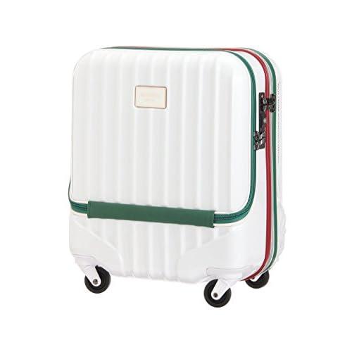 (ユナイテッドカラーズオブベネトン) UNITED COLORS OF BENETTON フロントオープンキャリーケース・スーツケース(M)機内持込可・容量約38L ホワイト FREE