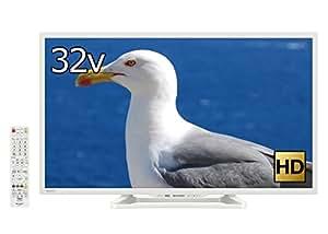 シャープ 32V型 ハイビジョン 液晶 テレビ AQUOS LC-32W35-W 外付HDD対応(裏番組録画) Wi-Fi内蔵 ホワイト