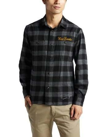 (ベンディビス)BEN DAVIS Plaid Flannel Shirt L/S 2780006 001BLK ブラック S