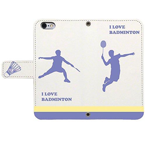 iPhone SE iPhone5S/5 対応 ケース スタンド 手帳 型 Booklet ダイアリー CuVery I love Badminton バドミントン