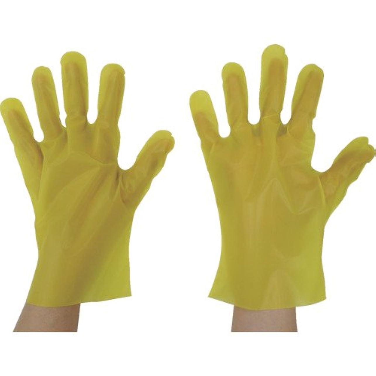 厚さ裁量無知東京パック エンボス手袋五本絞りエコノミー化粧箱L イエロー(入数:200枚) YEK-L