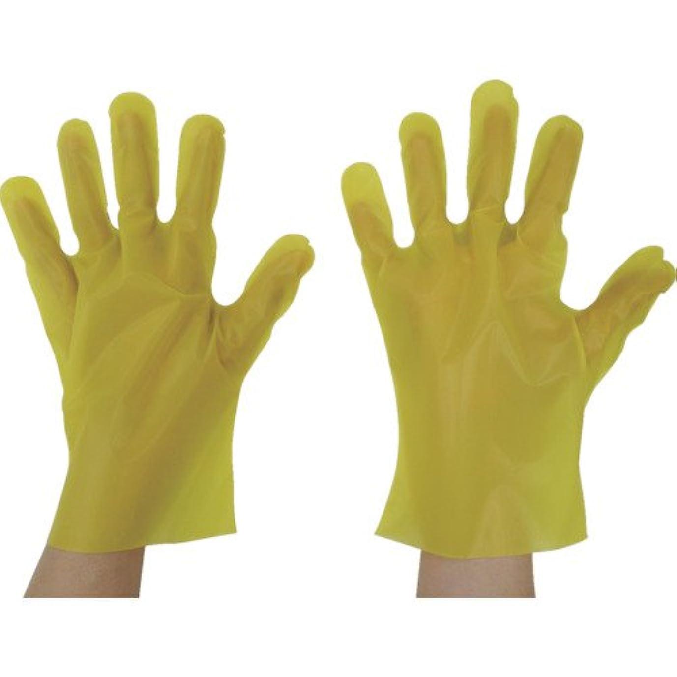 東京パック エンボス手袋五本絞りエコノミー化粧箱L イエロー(入数:200枚) YEK-L