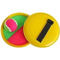 [黄]クラシックキッズトスとキャッチボールゲームセットキャッチボールおもちゃセット
