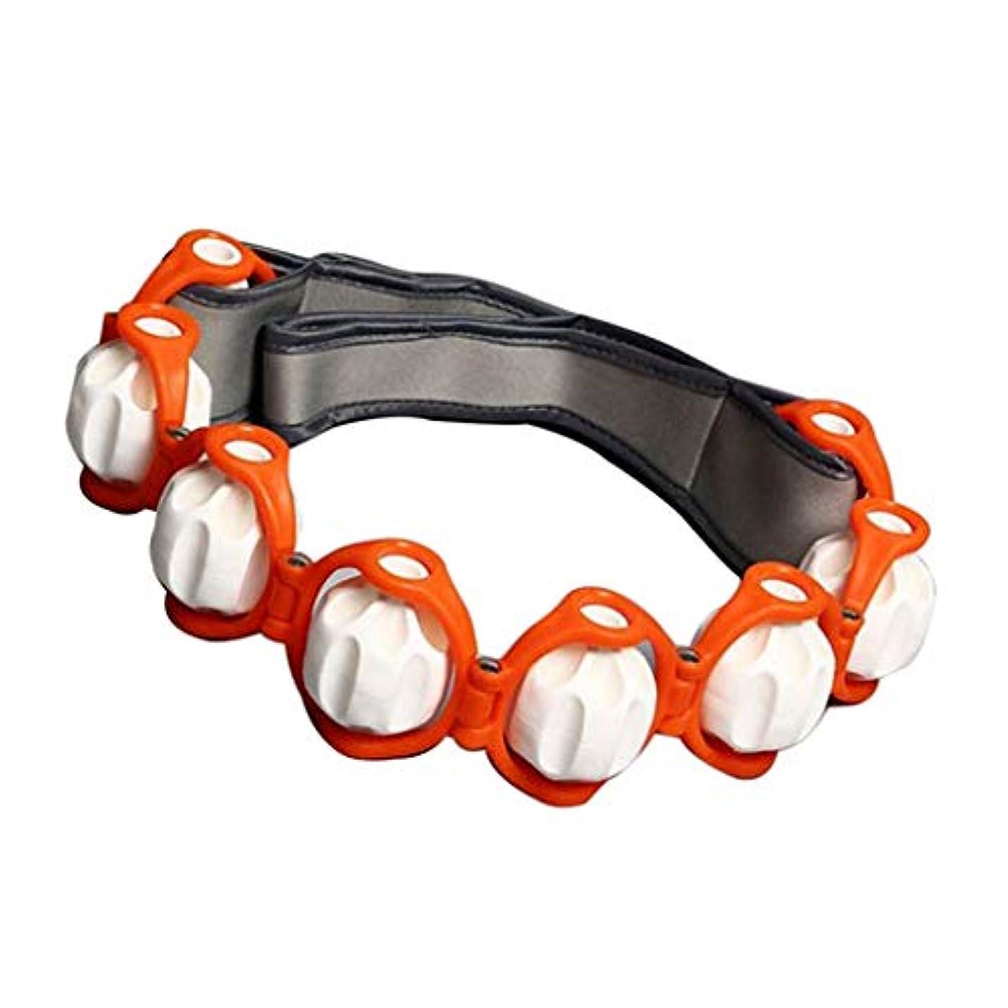 時計回りごめんなさい腹部マッサージローラー トリガーポイント 筋膜リリース 筋肉マッサージ マッサージツール4色選べ - オレンジ