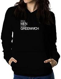 Real men love Greenwich 女性 フーディー