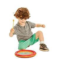 ウェーブビーズドラム、ドラムヘッドの色付きビーズ、軽量、子供が持ちやすい、就学前の子供のための教育玩具、音楽ギフト