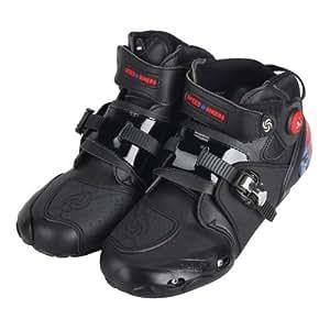 PRO Sportbike レーシングブーツ/バイク用ブーツ/ショートブーツ 強化防衛性 ライダーブーツ 40(約25-25.5CM) ブラック