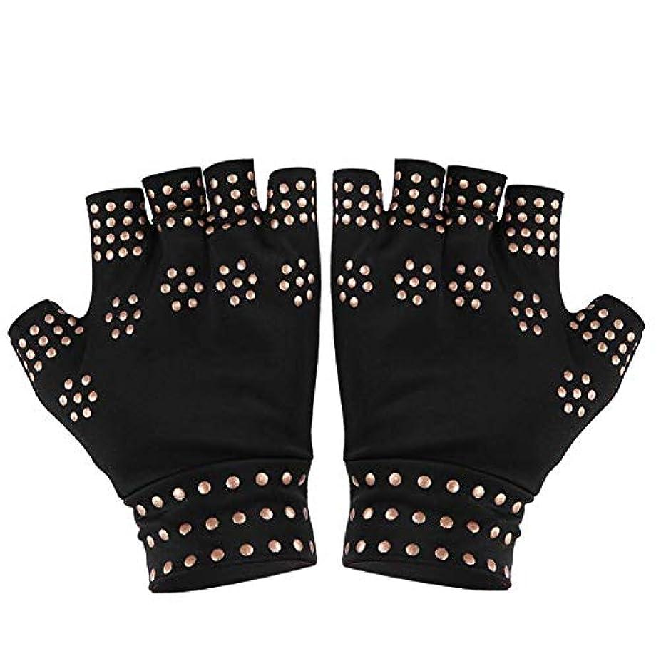 スナップシリアル余裕がある圧縮手袋、滑り止め、指なし、指なしヘルスケア、手袋、フィットネス、エクササイズ