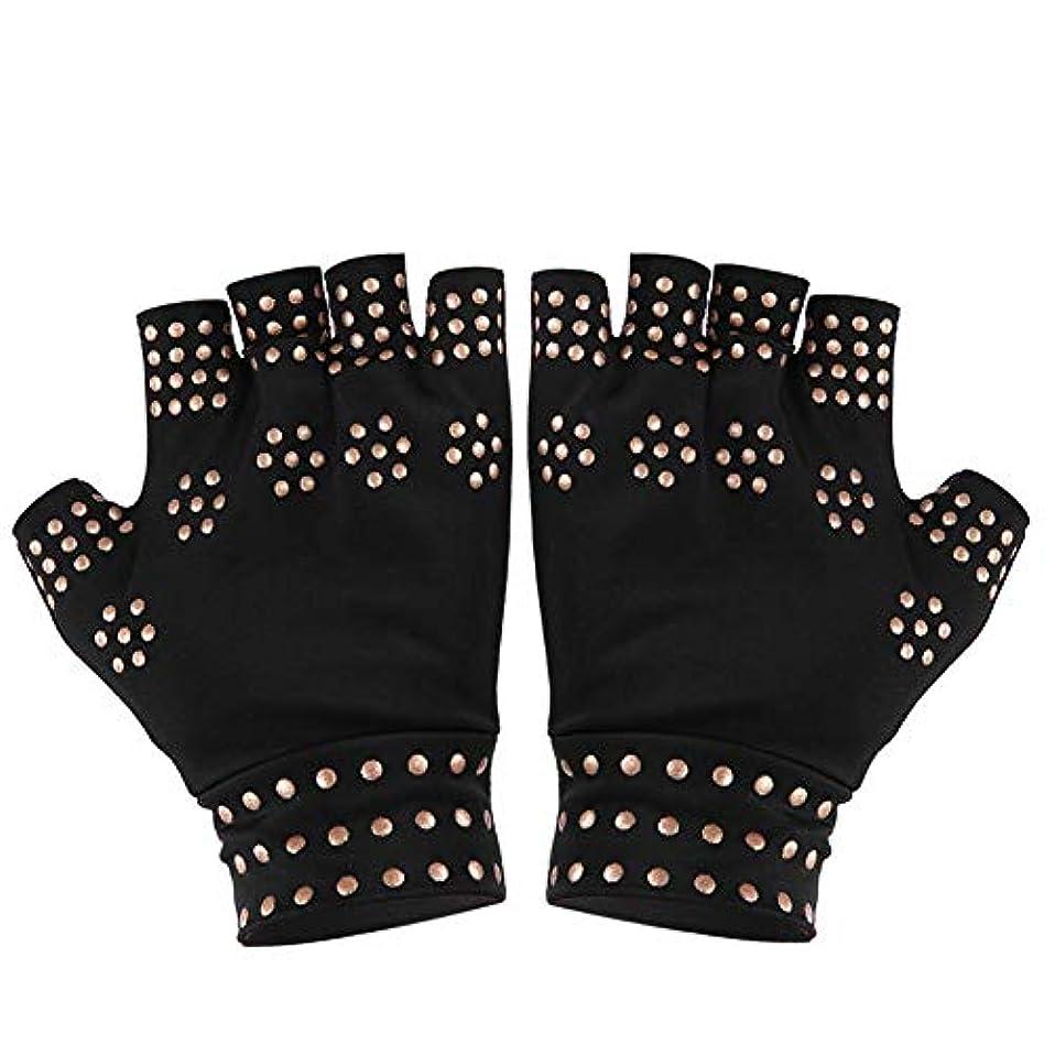 暗いレコーダーはげ圧縮手袋、滑り止め、指なし、指なしヘルスケア、手袋、フィットネス、エクササイズ