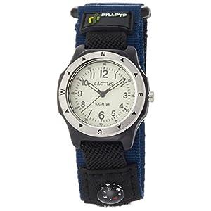 [カクタス]CACTUS キッズ腕時計 蓄光ダイヤル 10気圧防水 簡易コンパス付 CAC-65-M03 ボーイズ 【正規輸入品】