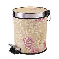 家庭用ゴ ヨーロッパのペダルゴミ箱リビングルームのバスルームの台所の寝室の家10Lゴミ箱することができます ゴミ箱 (色 : D)