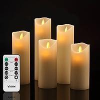 LED キャンドル ライト 専用リモコン付き 自動消灯タイマー 癒し 雰囲気 (5点セット)