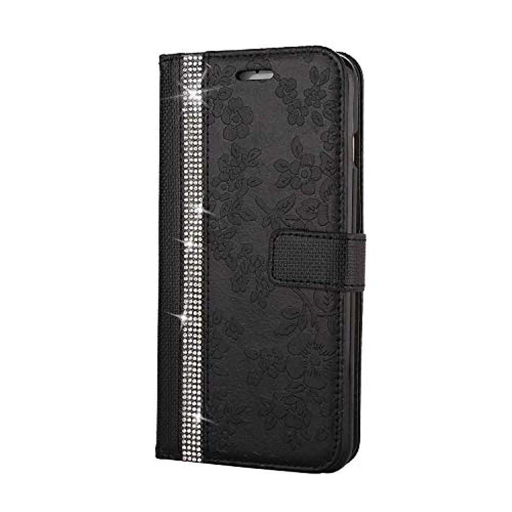 ラジウムいちゃつく規範CUNUS iPhone 6 Plus/iPhone 6S Plus 用 ウォレット ケース, プレミアム PUレザー 全面保護 ケース 耐衝撃 スタンド機能 耐汚れ カード収納 カバー, ブラック