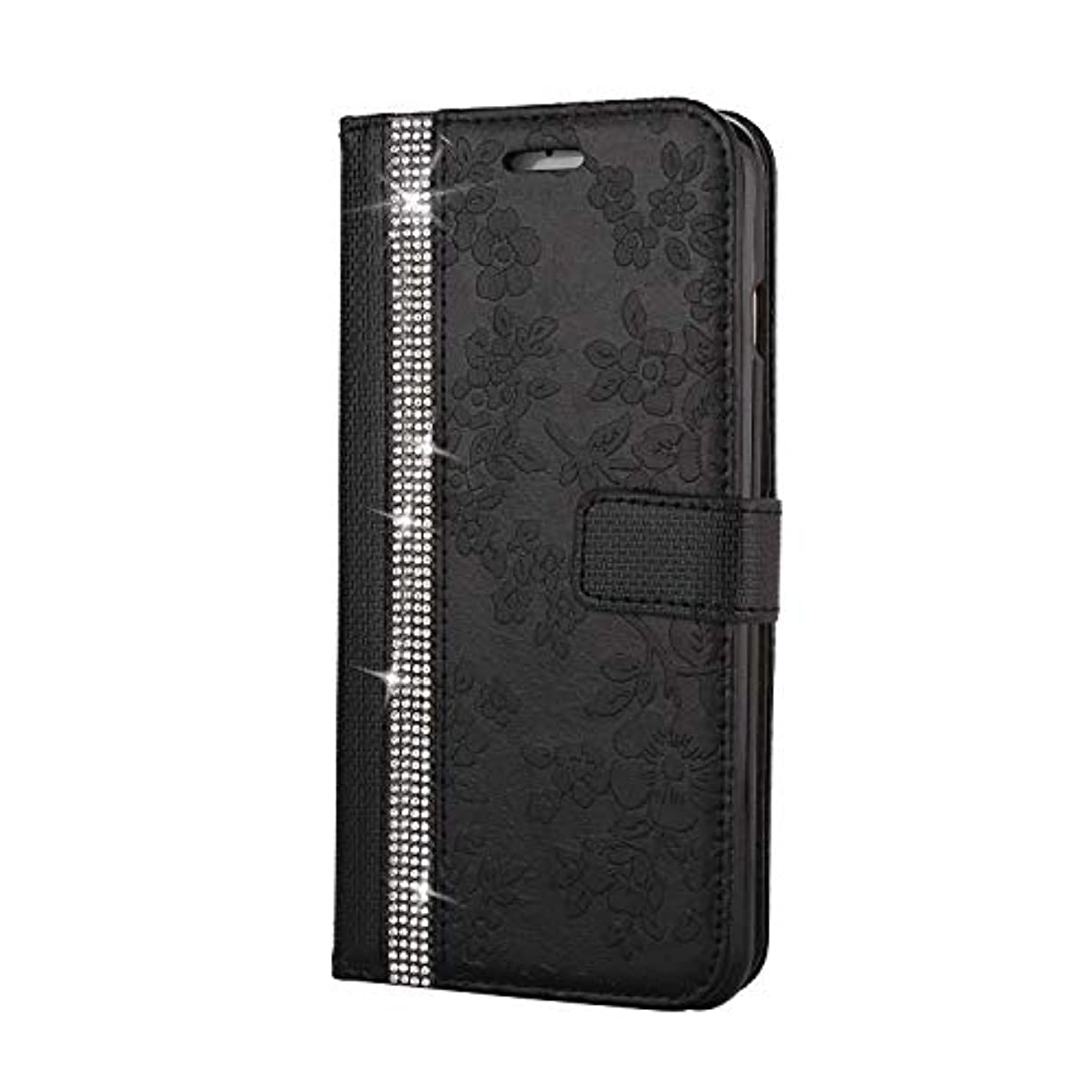 細心の切手キウイCUNUS iPhone 6 Plus/iPhone 6S Plus 用 ウォレット ケース, プレミアム PUレザー 全面保護 ケース 耐衝撃 スタンド機能 耐汚れ カード収納 カバー, ブラック