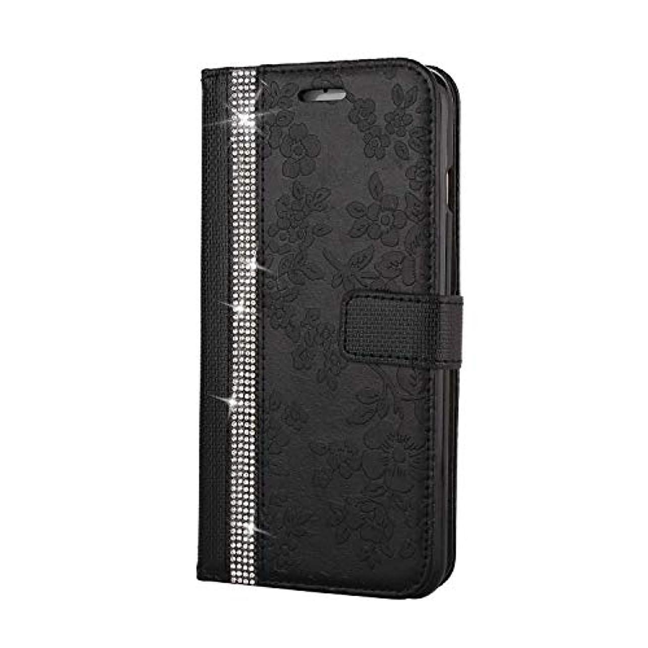 温度角度徐々にCUNUS iPhone 6 Plus/iPhone 6S Plus 用 ウォレット ケース, プレミアム PUレザー 全面保護 ケース 耐衝撃 スタンド機能 耐汚れ カード収納 カバー, ブラック